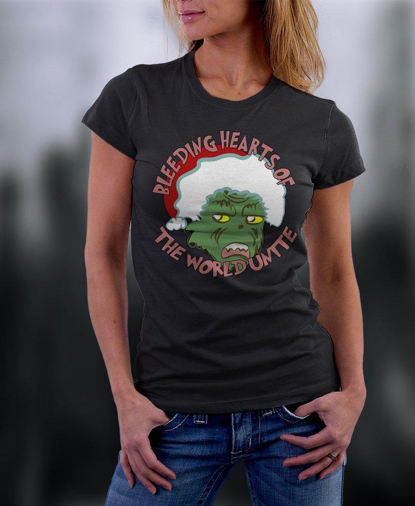 Christmas Shirt, The Grinch, Bleeding Hearts Of The World Unite Shirt