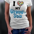 Autism Awareness, I Heart My Grandson Shirt