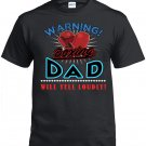 Boxing Dad, Warning Boxing Dad Will Yell Loudly Shirt