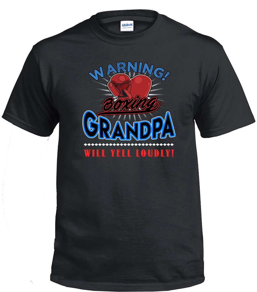 Boxing Grandpa, Warning Boxing Grandpa Will Yell Loudly Shirt