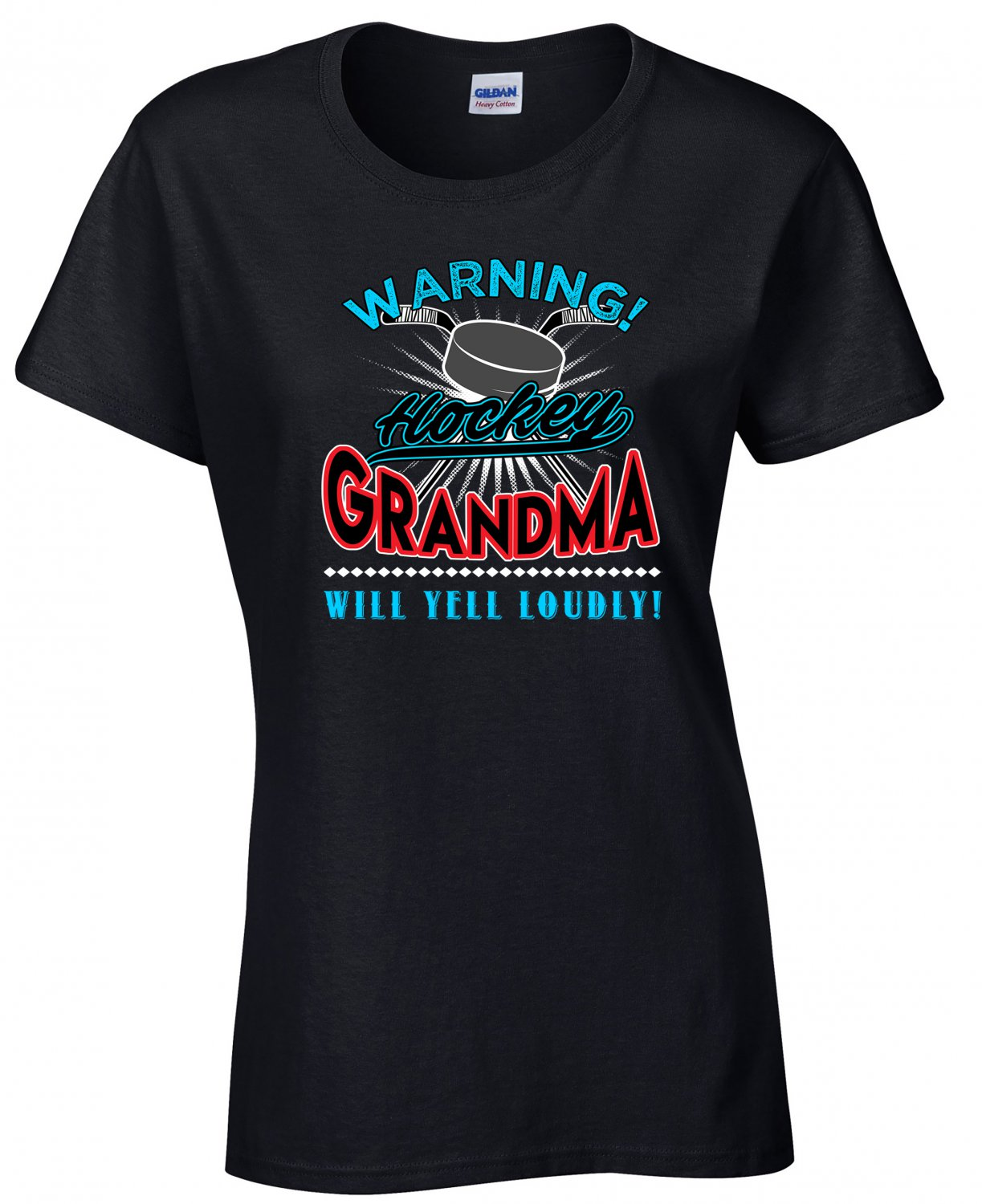Hockey Grandma, Warning Hockey  Grandma Will Yell Loudly Shirt