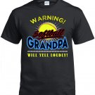 Softball Grandpa, Warning Softball Grandpa Will Yell Loudly Shirt