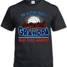 Volleyball  Grandpa, Warning Volleyball Grandpa Will Yell Loudly Shirt