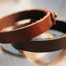 Couple Bracelet, Leather Custom Bracelet, His and Hers Leather Bracelet, Matching Cuff / Wristband