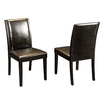 Elaina Leather Dining Chair - Black