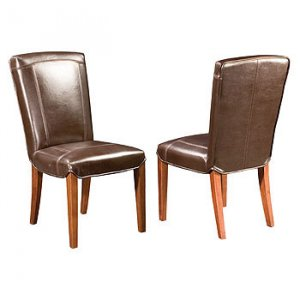 Carson Leather Dining Chair - Brown