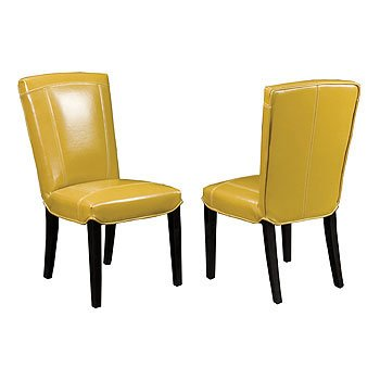 Carson Leather Dining Chair - Wasabi