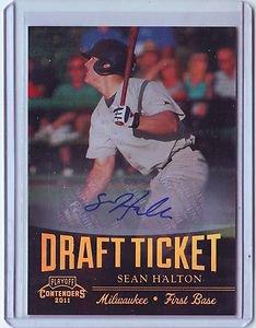 2011 Contenders Draft Ticket Autographs Sean Halton