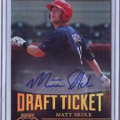 2011 Contenders Draft Ticket Autographs Matt Skole