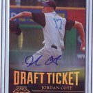 2011 Contenders Draft Ticket Autographs Jordan Cote