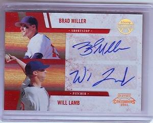 2011 Contenders Winning Combos Autographs Brad Miller/Will Lamb #052/120