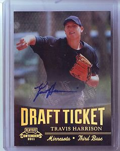 2011 Contenders Draft Ticket Autograph Travis Harrison