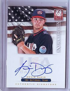 2012 Elite Extra Edition USA Baseball 18U Kevin Davis Auto #018/299