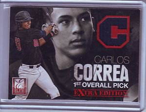 2012 Elite Extra Edition Carlos Correa 1st Overall Pick Jersey Card #075/999