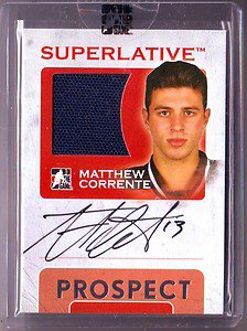 07-08 ITG Superlative Prospect Auto Silver Matthew Corrente #/50