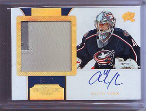 11-12 Dominion Horizontal Autographed Rookie Patches Allen York #30/41