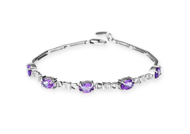 Amethyst sterling silver bracelet