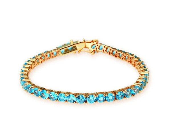 Topaz sterling silver bracelet