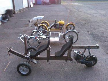 NomadOmatic X2 a 100 MPGe recumbent tandem tadpole motorcycle class trike