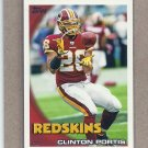 2010 Topps Football Clinton Portis Redskins #302