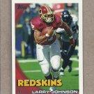 2010 Topps Football Larry Johnson Redskins #365
