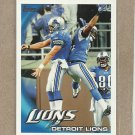 2010 Topps Football Lions Team Card #117