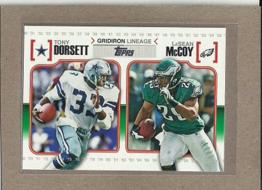 2010 Topps Football Gridiron Lineage Dorsett / McCoy #GL-DM