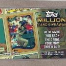 2010 Topps Baseball Million Card Giveaway Ichiro #TMC-14
