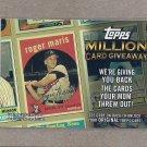 2010 Topps Baseball Million Card Giveaway Roger Maris #TMC-17