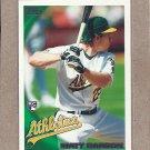 2010 Topps Baseball Matt Carson RC A's #261