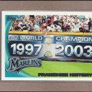 2010 Topps Baseball Marlins History #198