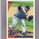 2010 Topps Baseball Edwin Jackson Tigers #254