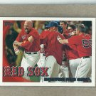 2010 Topps Baseball Red Sox Team Card #480
