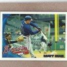 2010 Topps Baseball Matt Diaz Braves #640