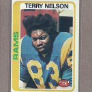 1978 Topps Football Terry Nelson Rams #18