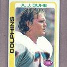 1978 Topps Football A.J. Duhe Dolphins #22