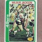 1978 Topps Football Wilbur Jackson 49ers #38