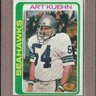 1978 Topps Football Art Kuehn Seahawks #43