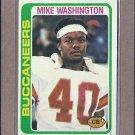 1978 Topps Football Mike Washington Buccaneers #48