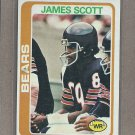 1978 Topps Football James Scott Bears #52