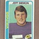 1978 Topps Football Jeff Siemon Vikings #58