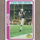 1978 Topps Football Steve Mike-Mayer Lions #59