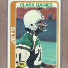 1978 Topps Football Clark Gaines Jets #81