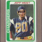 1978 Topps Football Jeff West Chargers #88