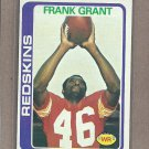 1978 Topps Football Frank Grant Redskins #91