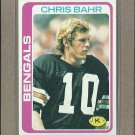1978 Topps Football Chris Bahr Bengals #94