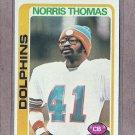1978 Topps Football Norris Thomas Dolphins #96