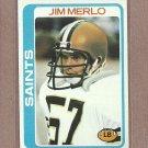 1978 Topps Football Jim Merlo Saints #98