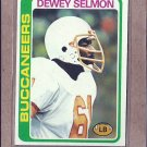 1978 Topps Football Dewey Selmon Buccaneers #106