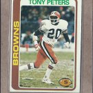 1978 Topps Football Tony Peters Browns #113